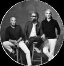 Гаррен, Говард МакЛарен и Том Приано, основатели R+Co: «Создавая бренд,  мы решили взглянуть на все со стороны и взяли лучшее от каждого из нас».