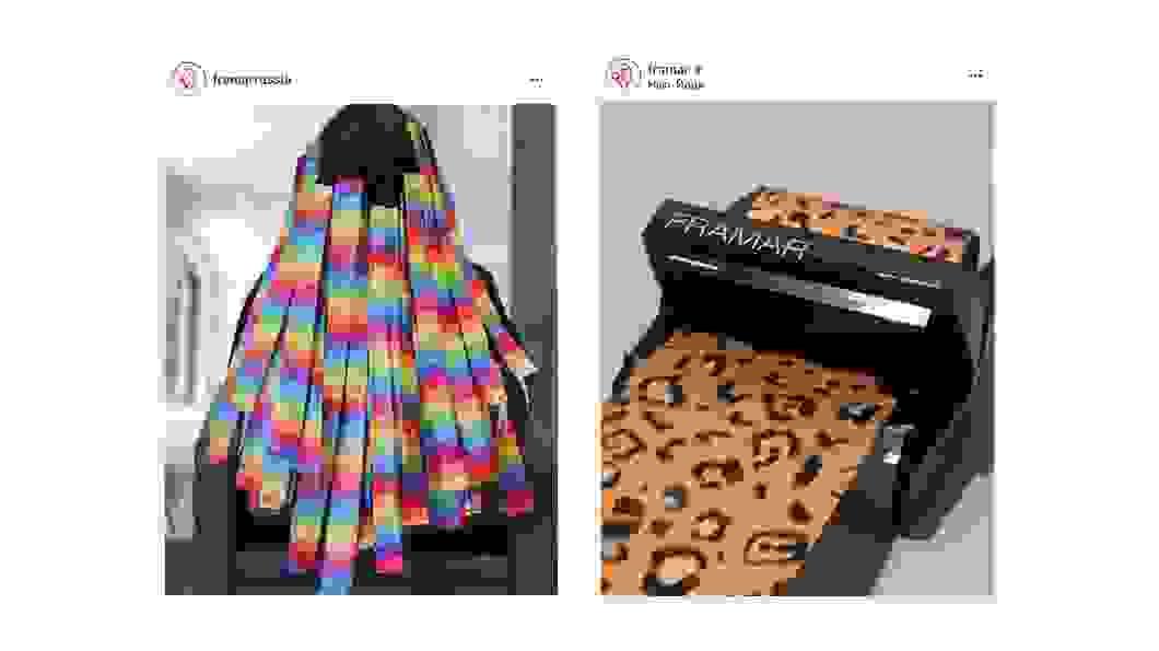<p>Справа налево: фольга Rainbow, фольга Party Animal</p>